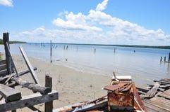 Le rester de Wallace Bay Jetty Photos libres de droits
