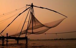 Le reti da pesca cinesi Fotografie Stock