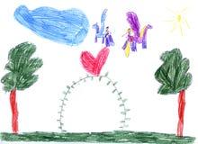Le retrait des enfants Photographie stock libre de droits