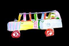 Le retrait-jouet des enfants le véhicule Photo stock