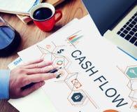 Le revenu d'économie de finances de flux de liquidités finance le concept d'investissement Image libre de droits