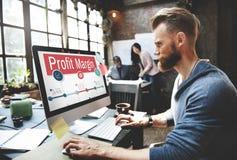Le revenu de revenu de finances de marge bénéficiaire coûte le concept de ventes image libre de droits