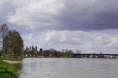 Le Rhin chez Soeyer Photo stock