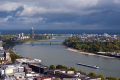 Le Rhin, Cologne, Allemagne Photo stock