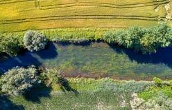 Le Rhin Tortu,史特拉斯堡南部的-盛大Est,法国一条小河 免版税库存图片