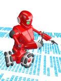 Le ricerche del robot Fotografia Stock