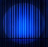 le rideau ou drape le fond bleu illustration de vecteur