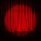 Le rideau ou drape le fond rouge Photographie stock libre de droits