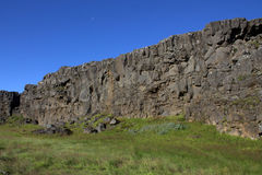 Le Ridge mi-Atlantique en Islande dans le thingvellir Image stock