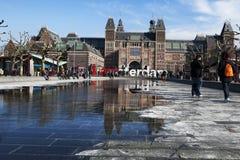 Le Rijksmuseum avec des mots Photo stock