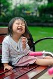 le rire d'enfant   Images libres de droits