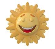 Le risate di Sun 3D Fotografie Stock Libere da Diritti