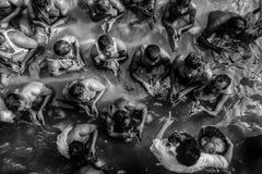 Le rituel de Tarpana - Kolkata photographie stock libre de droits