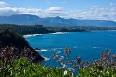 Le rivage du nord de Kauai Photos libres de droits
