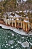 Le rivage national de lac islands d'apôtre sont une destination de touristes populaire sur le lac Supérieur dans le Wisconsin Photo stock