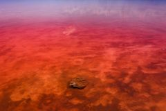 Le rivage salé de Laguna Salada de Torrevieja l'espagne Photo stock