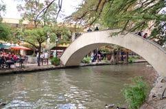 Le riverwalk de San Antonio du centre Images libres de droits