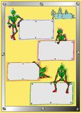 Le robot avec des cadres Images stock
