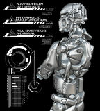 Le robot avec des têtes montrent  Images stock