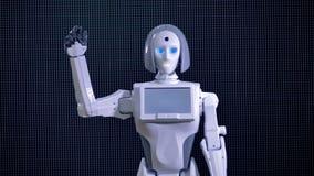 Le robot bionique saluent, font bon accueil à onduler sa main