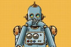 Le robot a couvert sa bouche illustration libre de droits