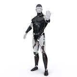 Le robot indiquent stop2 Images stock