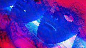 Le robot masque l'intelligence artificielle, conception abstraite de nouvelle technologie illustration libre de droits