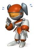 Le robot mignon est trop timide Photographie stock libre de droits