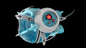 Le robot nano 3D rendent Images stock