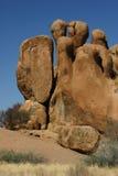 Le rocce bizzarre si avvicinano a Spitzkoppe Fotografia Stock Libera da Diritti