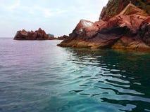 Le rocce del mare Fotografia Stock