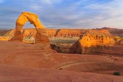 Le rocce del parco nazionale di arché fotografie stock
