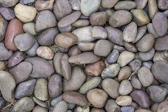 Le rocce di Brown sulla terra usata come fondo fotografia stock libera da diritti