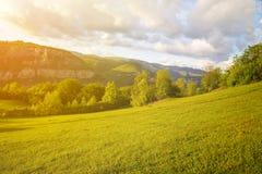 Le rocce di Lakatnik al tramonto, Bulgaria Fotografie Stock Libere da Diritti