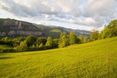 Le rocce di Lakatnik al tramonto, Bulgaria Immagini Stock