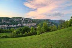 Le rocce di Lakatnik al tramonto, Bulgaria Immagine Stock