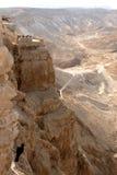 Le rocce di Masada Fotografia Stock Libera da Diritti