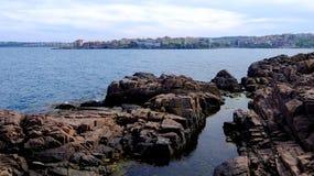 Le rocce di Sozopol immagine stock