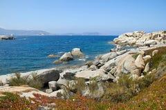 Le rocce sopra il mare Fotografia Stock Libera da Diritti