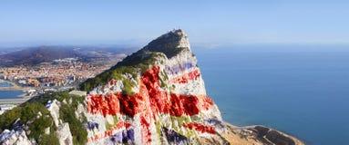 Le rocher de Gibraltar Photo libre de droits