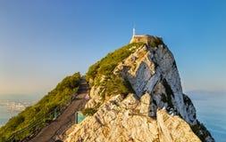 Le rocher de Gibraltar, un territoire d'outre-mer britannique images libres de droits