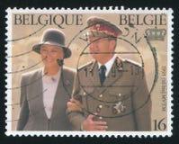 Le Roi Albert II et Reine Paola Image libre de droits