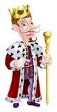 Le Roi arrogant Pointing Cartoon Photographie stock libre de droits