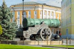 Le Roi Cannon (canon de tsar) à Moscou Kremlin image stock