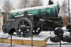 Le Roi Cannon de Pushka de tsar à Moscou Kremlin Photo couleur images stock