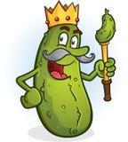Le Roi Cartoon Character de conserves au vinaigre illustration de vecteur