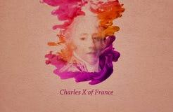Le Roi Charles X de la France illustration libre de droits