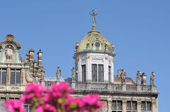 Le Roi d'Espagne historical building on Grand Place in Brussels Stock Images