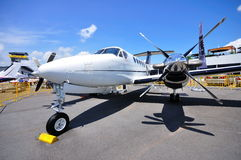 Le Roi de Beechcraft de colporteur Air B200GT chez Airshow Photo stock