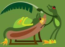 Le roi 1 de grenouille illustration de vecteur